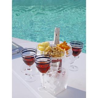 Posoda za šampanjec z držali za kozarce   - Kuhinja in Jedilnica