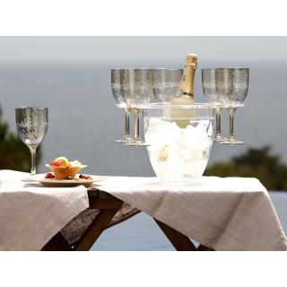 Vrč za hlajenje vina z držali za kozarce in kozarci   - Kuhinja in Jedilnica