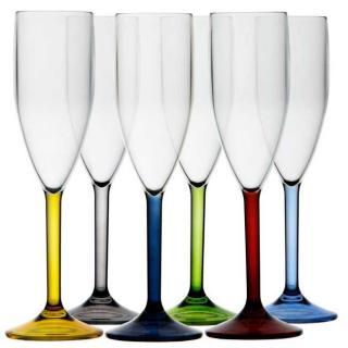 Party colors Kozarec za šampanec, barvni, 6 kos   - Kuhinja in Jedilnica