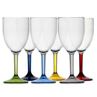Party colors Kozarec za vino, barvni, 6 kos   - Kuhinja in Jedilnica