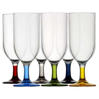 Kozarec za šampanec, maili,  barvni, 6 kos   - Kuhinja in Jedilnica